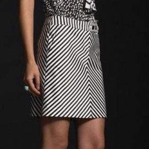 J. Crew Chevron A-Line Skirt with Pockets NWT Sz 6